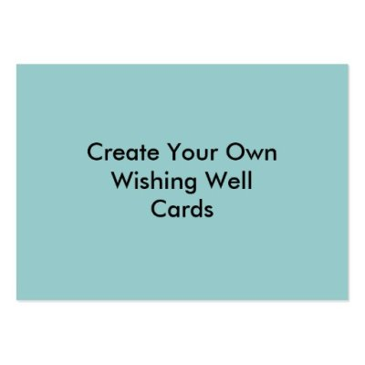 Create Your Own Blue Wishing Well Cards Business Card Templates | Zazzle
