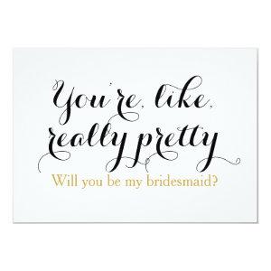Custom will you be my bridesmaid funny wedding card