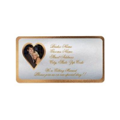 Customize Photo Wedding Invitation Return Address Label ...