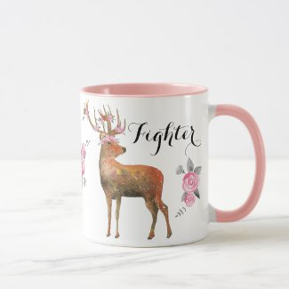 Deer with Pink Flower Crown Fighter Mug
