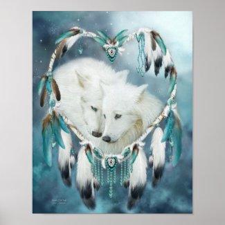 Dream Catcher - Heart Of A Wolf Art Poster/Print
