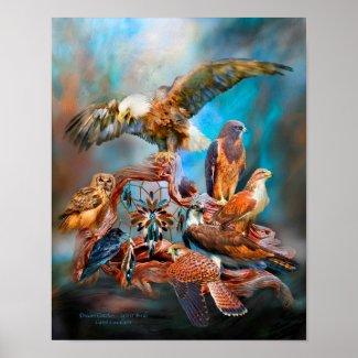 Dream Catcher_Spirit Birds Art Poster/Print