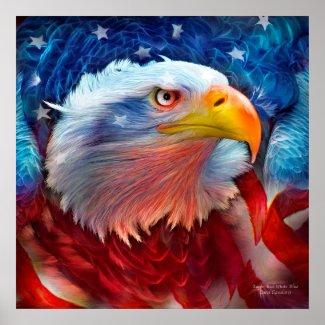 Eagle - Red White Blue Fine Art Poster/Print