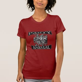 Early Modern Party Animal- Distressed T-shirt