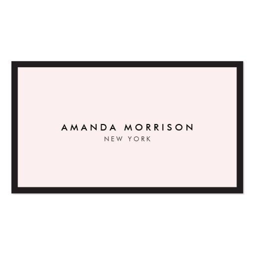 Elegant and Refined Luxury Boutique Black/Pink Business Card