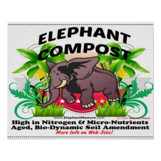 Elephant Compost Poster