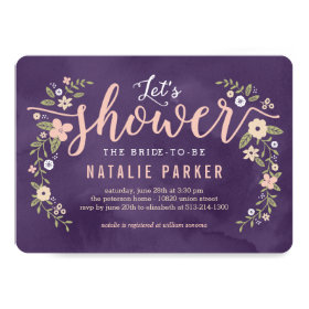 Floral Beauty Editable Color Bridal Shower Invite
