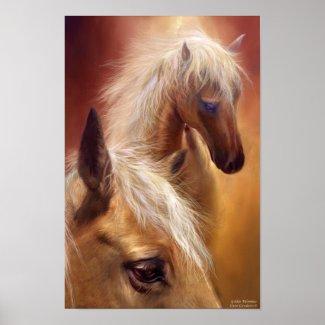 Golden Palomino Art Poster/Print
