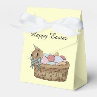 Happy Easter bunny eggs Favor Box
