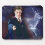Harry Potter's Stag Patronus Mousepad