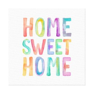 HOME SWEET HOME WATERCOLOR | CANVAS