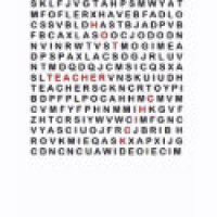 Word Search Puzzle Geeks T-Shirts & Gifts - Hot Chick Teacher