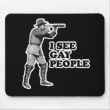 I See Gay People Mousepad