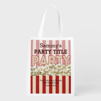 It's Your Party Bag Personalize it! Reusable Grocery Bags