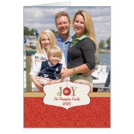 Joy ornament christmas customizable photocard