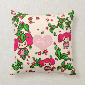 Kawaii Girl PinkyP SweetLolita Personalized Throw Pillow