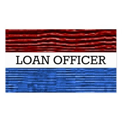 Loan Officer Patriotic Business Card   Zazzle