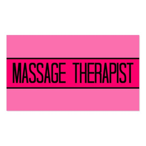 Massage Therapist Baby and Hot Pink Business Card