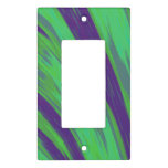 Modern Green Blue Color Swish Light Switch Cover