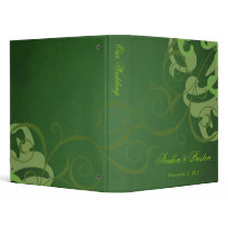 Nobel Green Scroll Green Wedding Binder