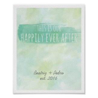 Our Happily Ever After Personalized Couple Emerald