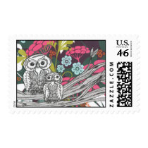 Owls Postage Stamps