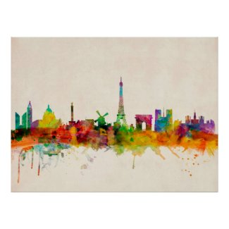 Paris France Skyline Cityscape