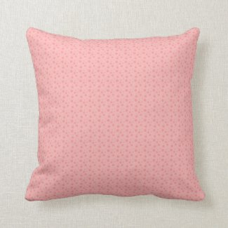 Pink & Brown Dotted Throw Pillow