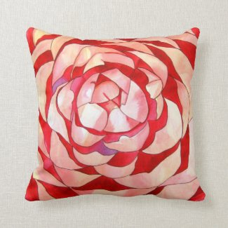 Pink Camellia Flower Pillows