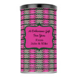 Pink Green Abstract Pattern Hot Chocolate Drink Mix