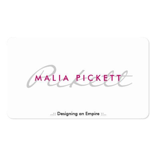 pink professional sleek business card