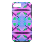 Pretty Pink Blue Flower Abstract iPhone 7 Case