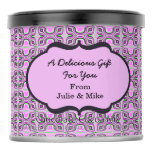 Pretty Pink Mod Abstract Pattern Hot Chocolate Drink Mix