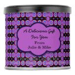 Purple Black Mod Artsy Design Hot Chocolate Drink Mix