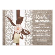 Rustic Burlap & Lace Bridal Shower Invitation