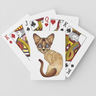 Siamese Cat Cards Poker Cards