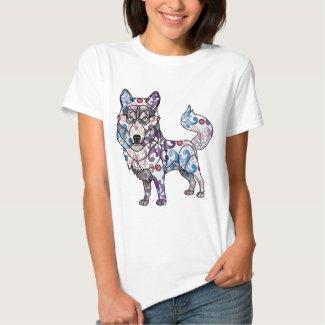 Siberian Husky - Colored T-shirt