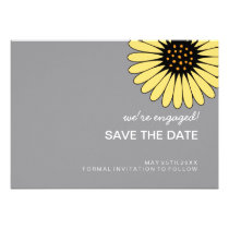 Single Gerbera Daisy SAVE THE DATE Announcement