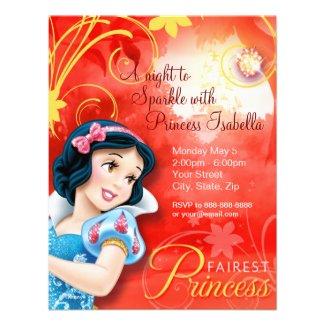 Snow White Birthday Invitation Personalized Invite