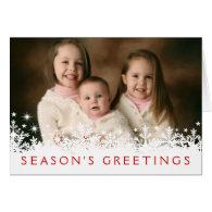 Snowflake Holiday Full-bleed Photo Greeting Card