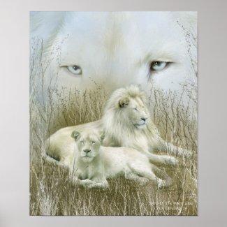 Spirit Of The White Lions Art Poster/Print