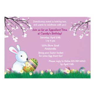 Spring Bunny Easter Card