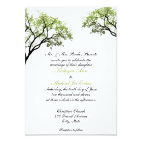Spring Trees Wedding Invitation