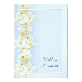 Spring wedding with daffodils 5x7 paper invitation card