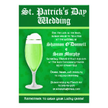St. Patrick's Day Wedding Invitation