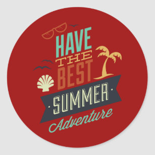 Brochure Stickers   Zazzle Summer Tours Classic Round Sticker
