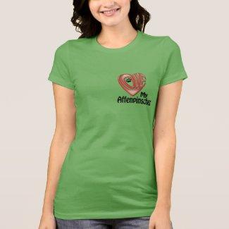 T-shirt, Women's: Love My Affenpinscher