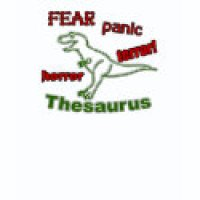 Word Game Geeks T-Shirts & Gifts - Thesaurus Fear