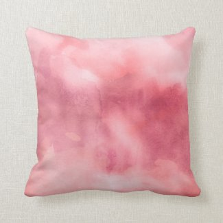 Throw Pillow - Watercolor Pinks