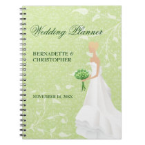 Walking the Aisle Green Wedding Planner Note Books